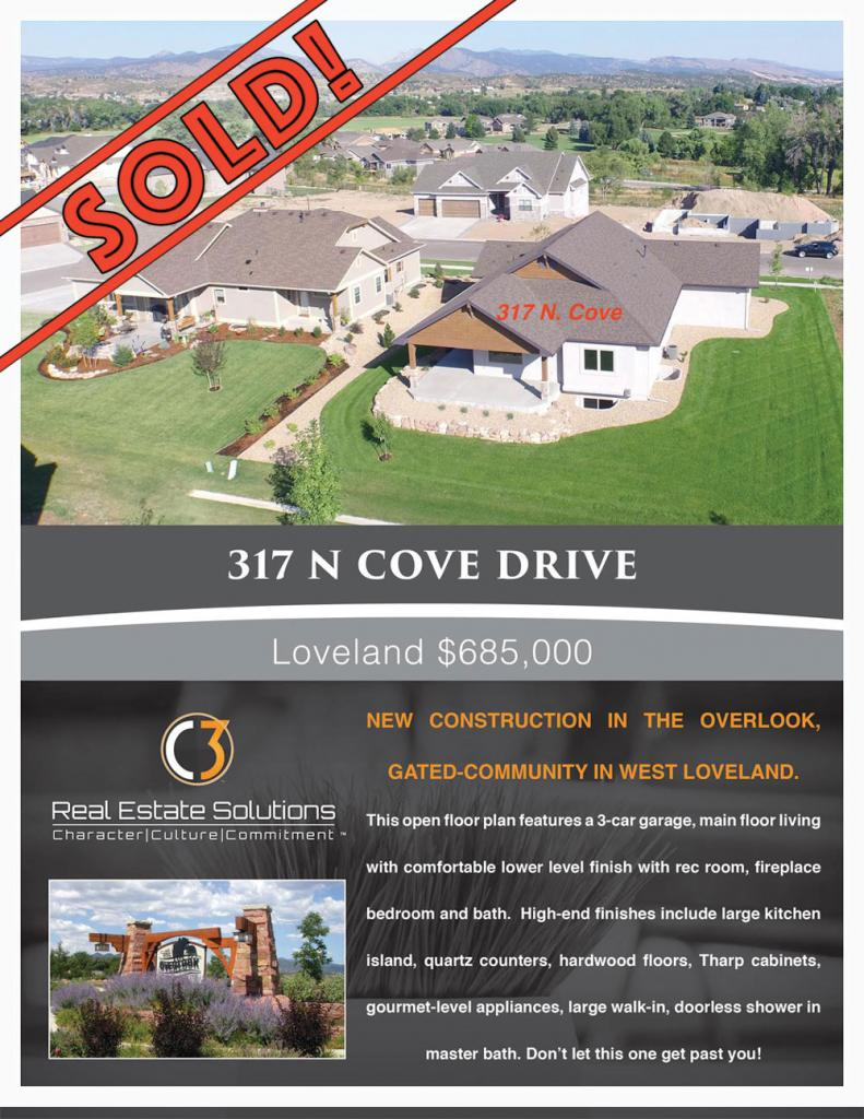 317 N. Cove - photo and write up - listed by Nancy Baxter, C3 Real Estate Solutions, Loveland Colorado May 2016